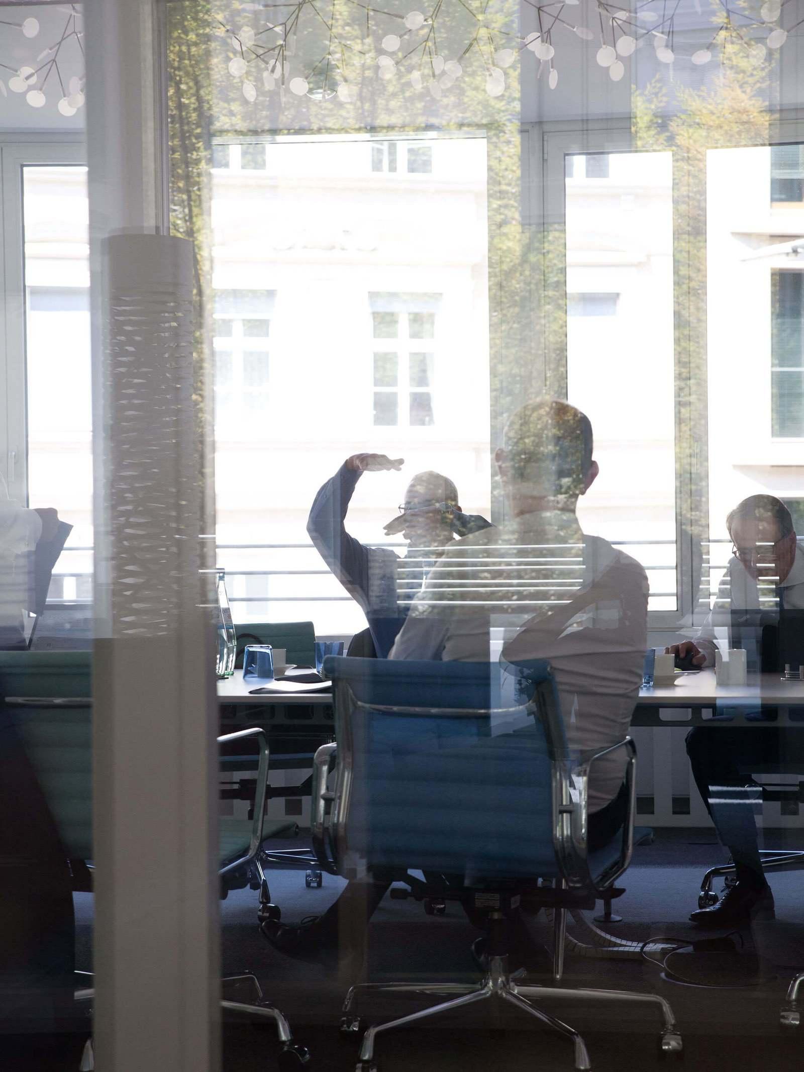 Das Management in einer Besprechung
